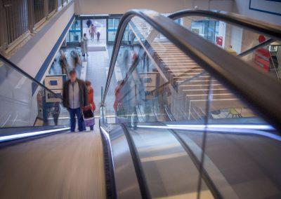 Rolltreppe-Obergeschoss
